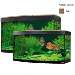 fluval vincenza bow front aquarium kit with LED lighting Heater and filter