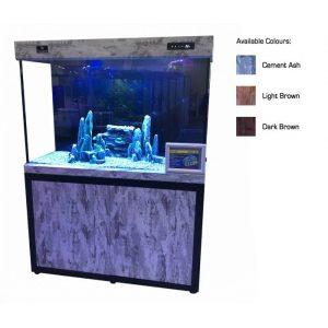 cleair adriatic glass aquarium set with cabinet