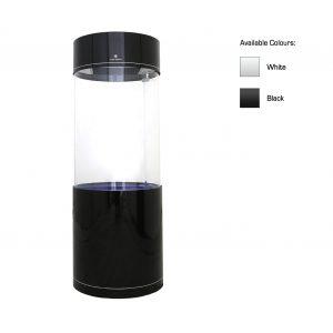 cleair danube acrylic circular round column aquarium set with stand