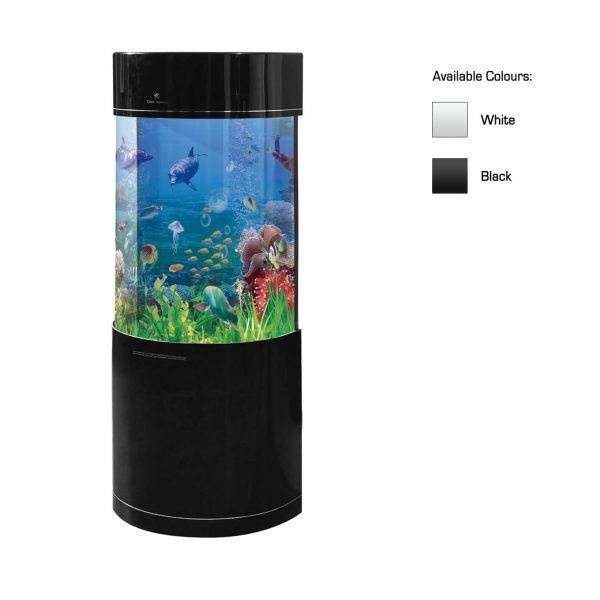 cleair arctic semi circle acrylic aquarium set with stand