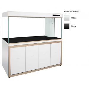 cleair ionian glass aquarium set with cabinet