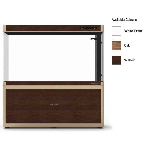cleair limpopo glass aquarium set with cabinet