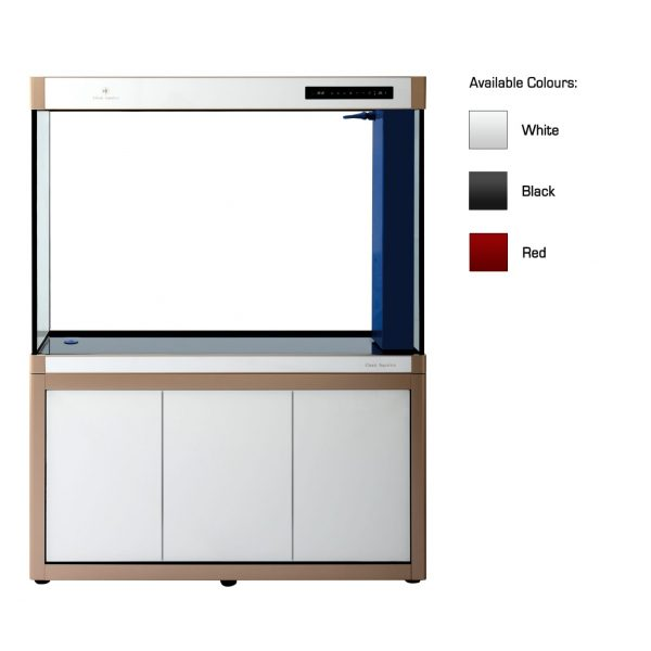 cleair caspian glass aquarium set with cabinet