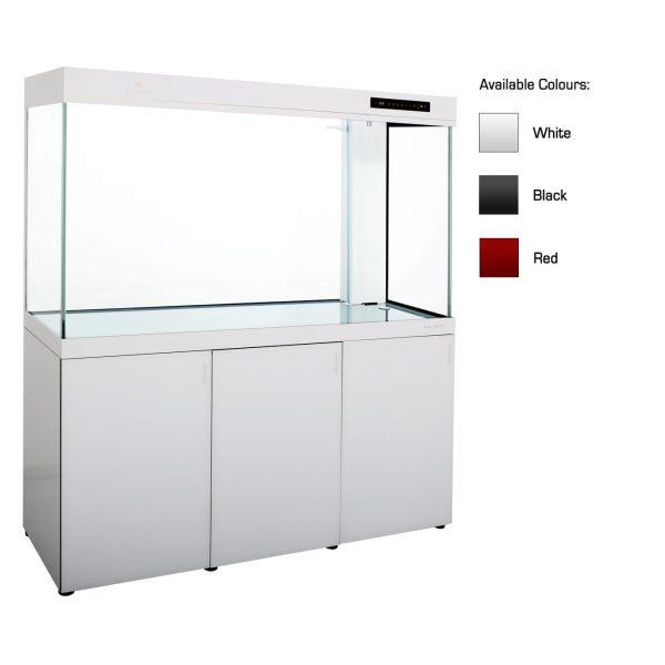 cleair sargasso glass aquarium set with cabinet