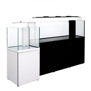 cleair indo reef glass rimless aquarium set with sump cabinet