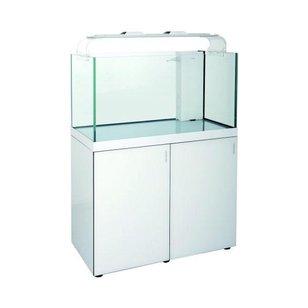 cleair indo reef rimless glass aquarium set white