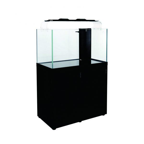 cleair indo reef rimless glass aquarium set black