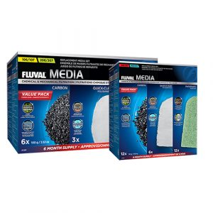 fluval value external filter media pack including carbon quickclear polishing pads phosphate remover pads