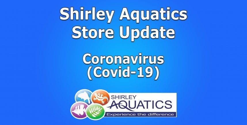Shirley Aquatics Store Update – Covid-19
