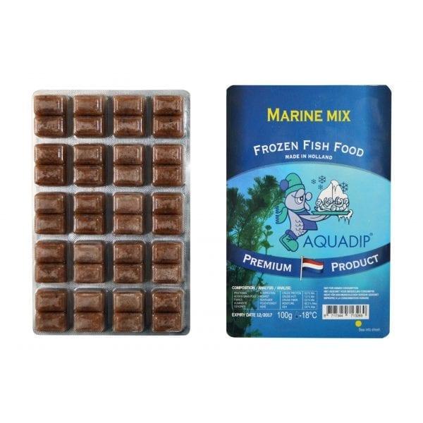 aquadip marine mix frozen food 100g blister pack