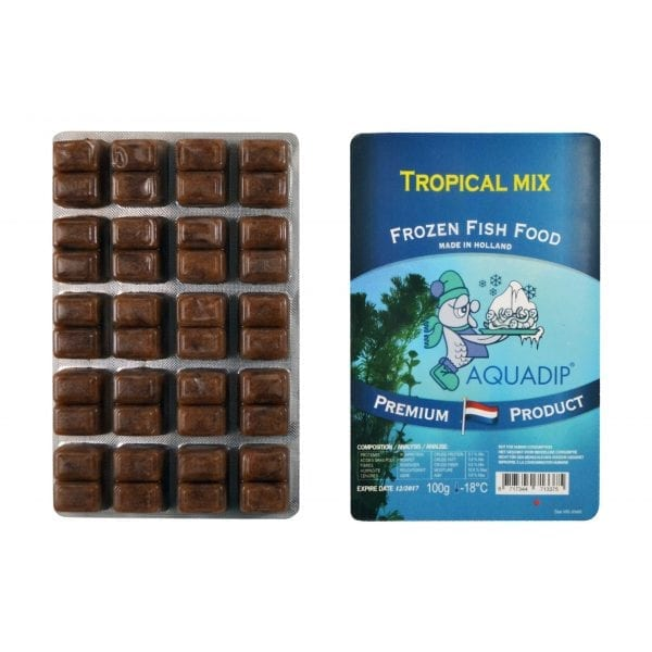 aquadip tropical mix frozen blister pack 100g
