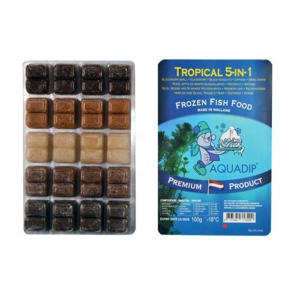 aquadip tropical quintet 5in1 frozen blister pack 100g