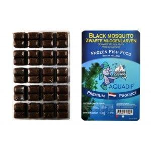 aquadip frozen black mosquito larvae blister pack 100g