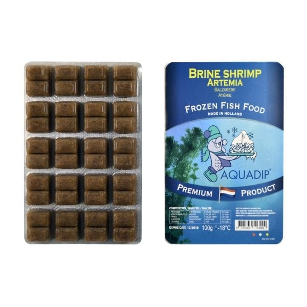 aquadip brineshrimp frozen blister pack food