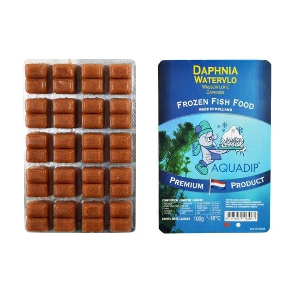 aquadip frozen daphnia blister pack 100g