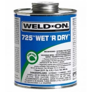 Weld On PVC Pipe cement solvent
