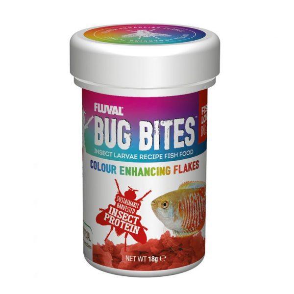 fluval bug bites colour enhancing flakes