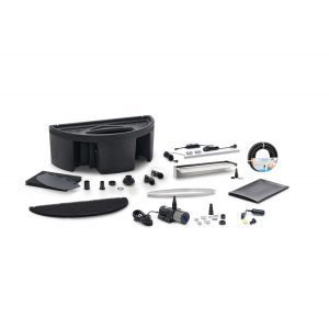 oase stainless steel waterfall xl set