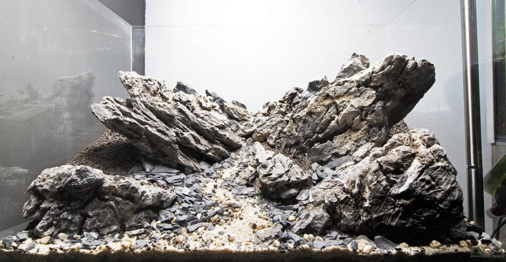 an example of purely hardscape aquascaping
