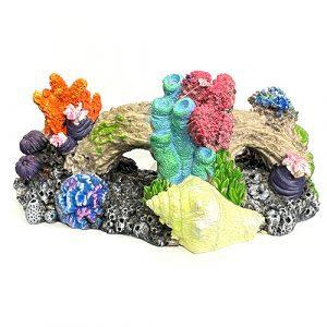 marina iglo coral reef fluorescent aquarium ornament