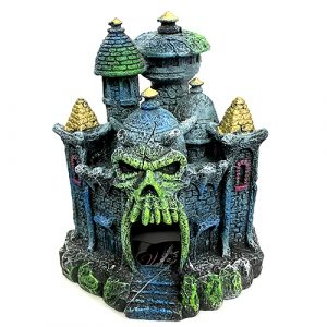 marina iglo skull castle fluorescent aquarium ornament