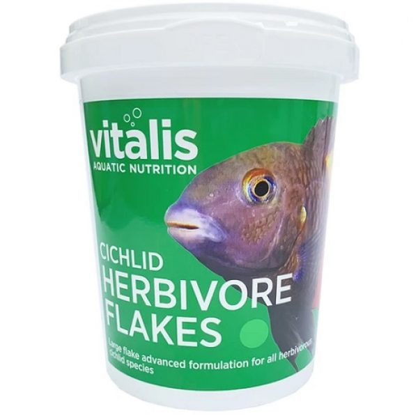 vitalis cichlid herbivore flake tropical food