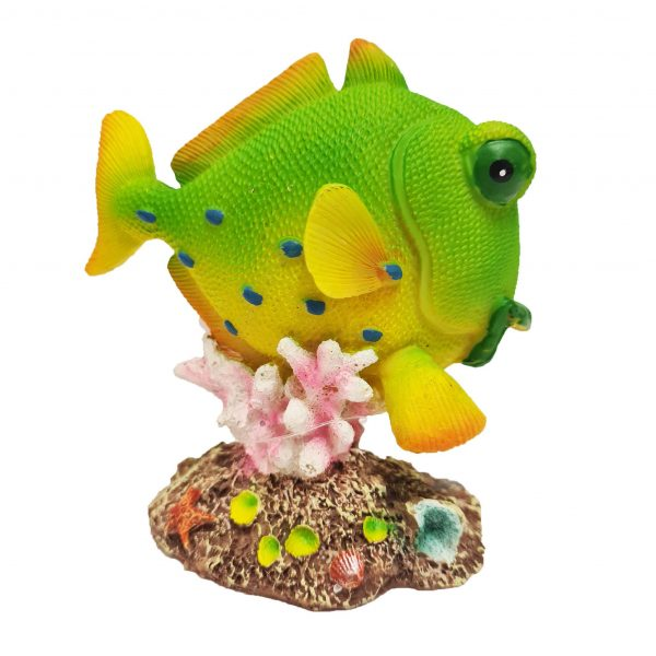 yellow fish on coral ornament