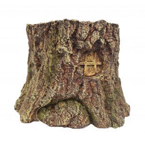tree stump cave ornament